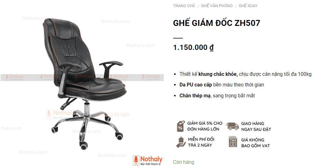 Mua ghế xoay giá rẻ bọc da