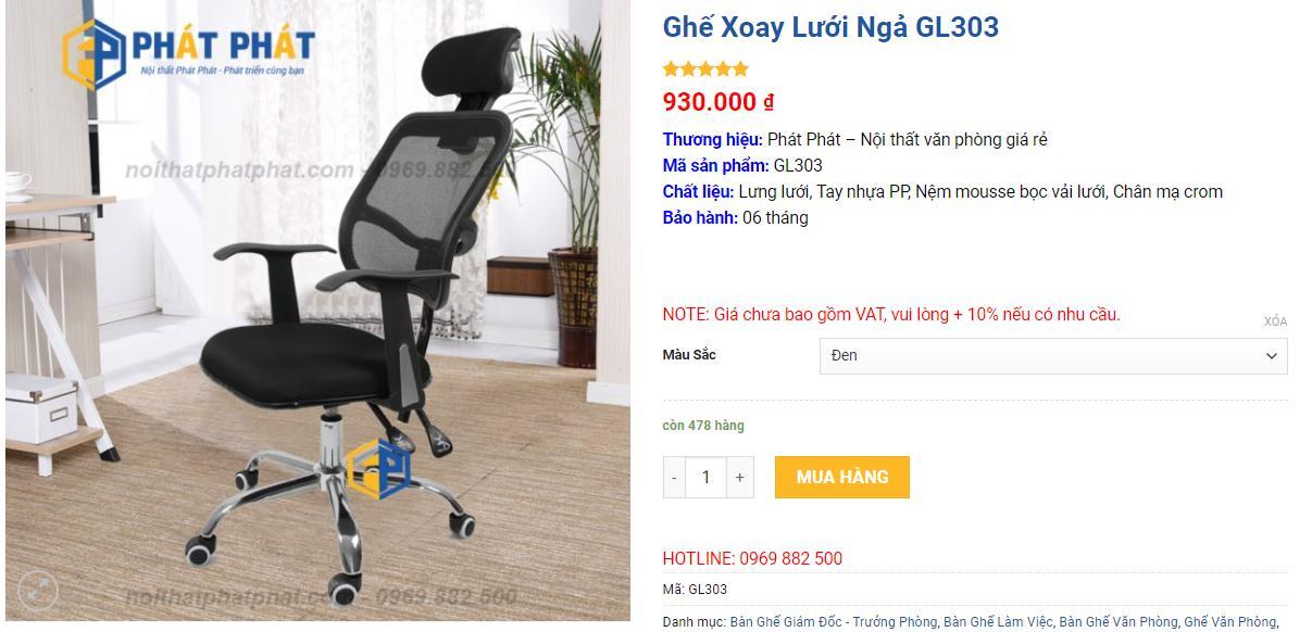 Phát Phát có hơn + 100 mẫu ghế xoay giá rẻ, chất lượng cao - 1