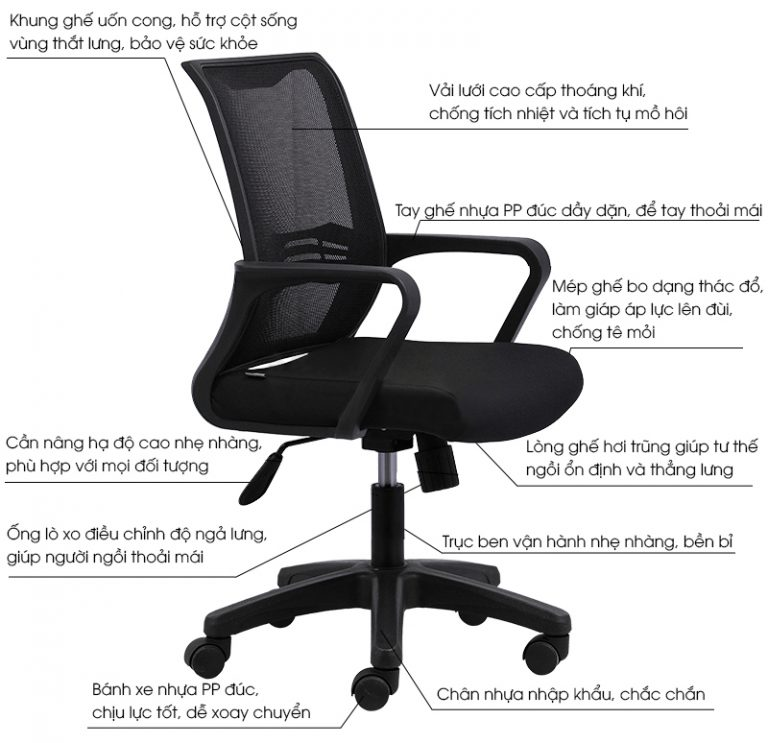 { Giá rẻ } Mua ghế lưới xoay văn phòng giá rẻ và những điều cần biết - 1